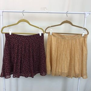 Two Pleated Lined Mini Skirts, Old Navy, Both New!